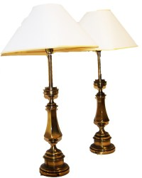 vintage matching brass Stiffel table lamps