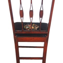 Federal Dining Chairs Basket Weave A Mahogany Chair