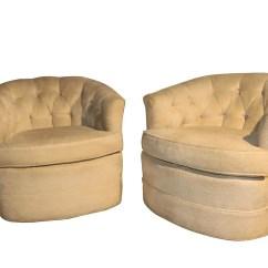 Swivel Lounge Chairs Human Scale Chair Milo Baughman Style Mid Century Club