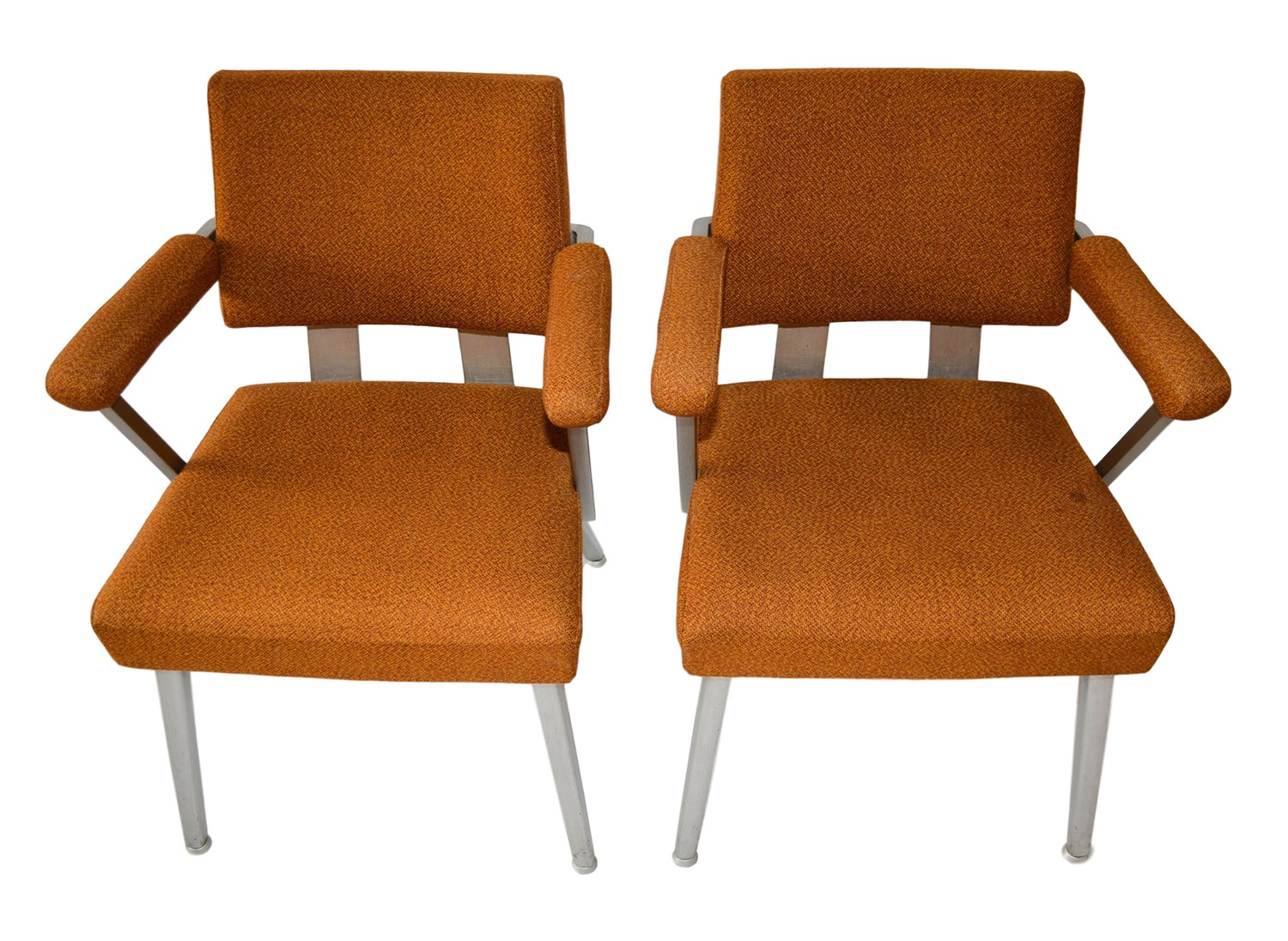 modern aluminum chair multi seat folding chairs pair mid century general fireproofing good form
