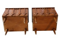 Pair Mid Century Nightstands side tables