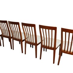 Danish Modern Dining Chairs Recliner Chair Covers Black Teak Set Of 6