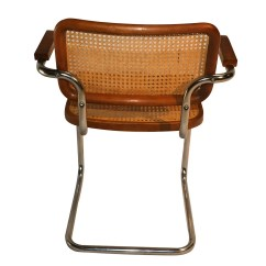 Marcel Breuer Cesca Chair With Armrests Stylist For Sale Style Cane Arm Chairs
