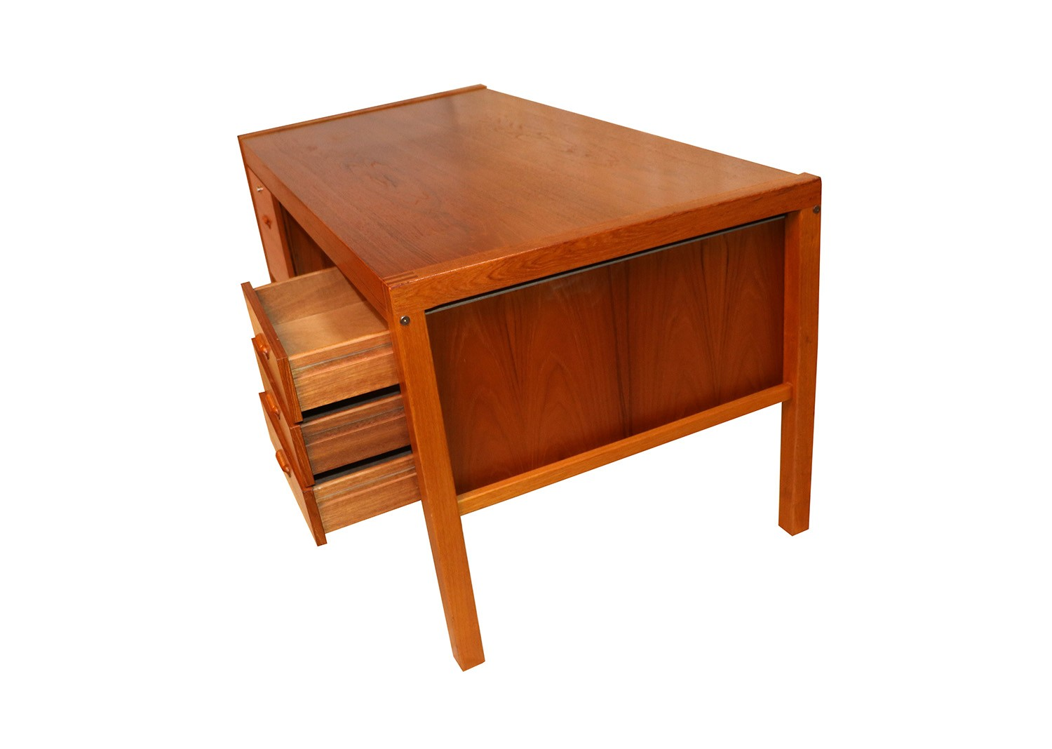 Mid Century Danish Teak Executive Desk