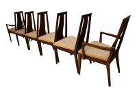 Mid Century Modern Six Walnut Dining Chairs American of ...