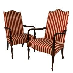 Hickory Chair Furniture Vintage Ekornes Stressless Pair Mahogany Federal Style Martha