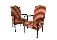 Pair Hickory Chair Mahogany Federal style Martha ...