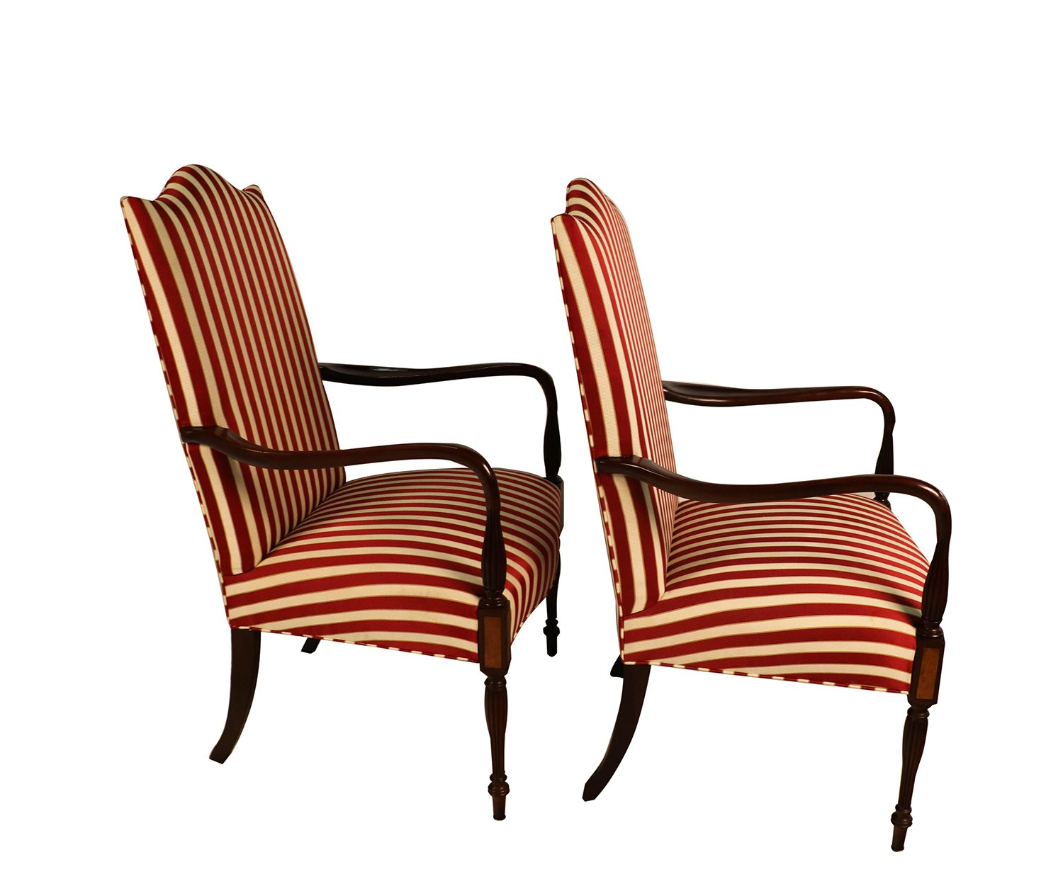 hickory chair accessories plastic outdoor stackable chairs pair mahogany federal style martha