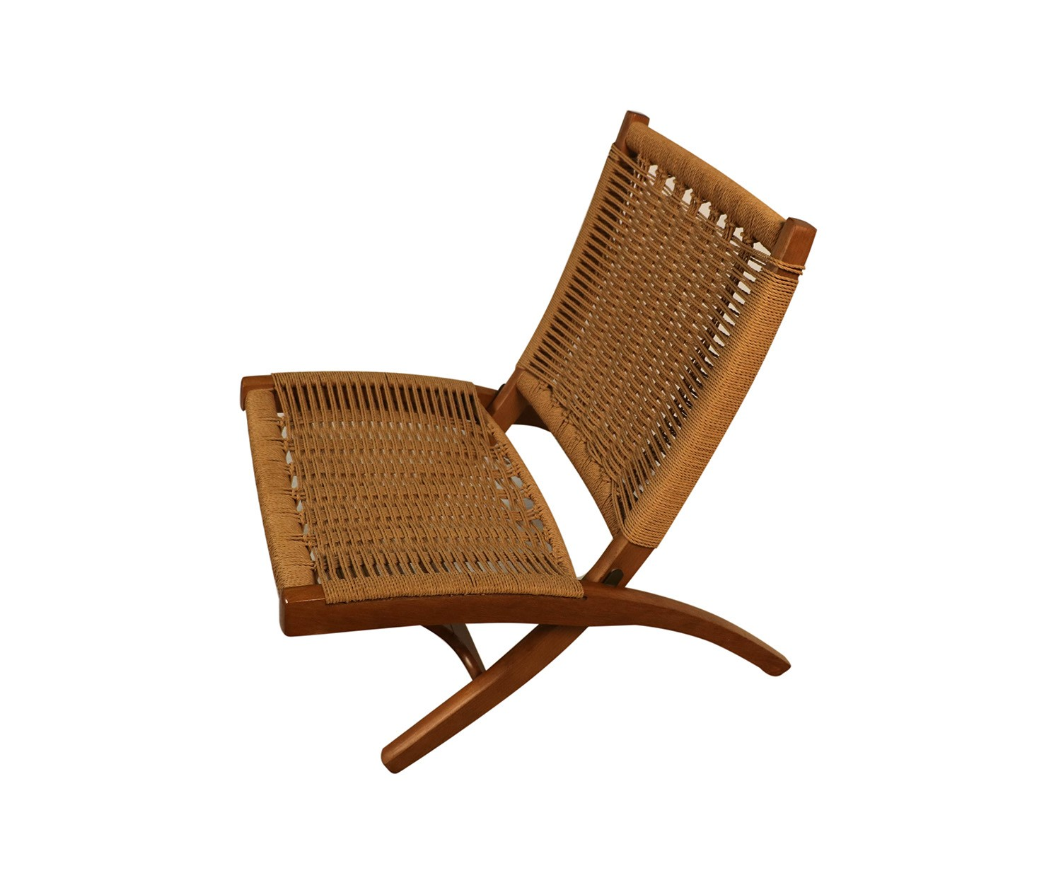 Hans Wegner Folding Chair Mid Century Hans Wegner Style Woven Folding Chair