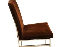 Eight Milo Baughman Style Mid Century Chrome Dining Chairs ...