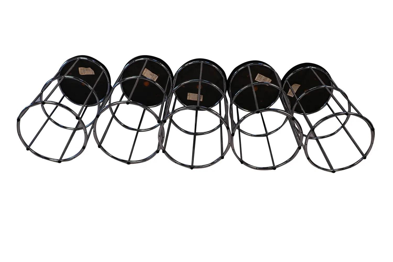 Five Mid Century Modern Chrome Barstools