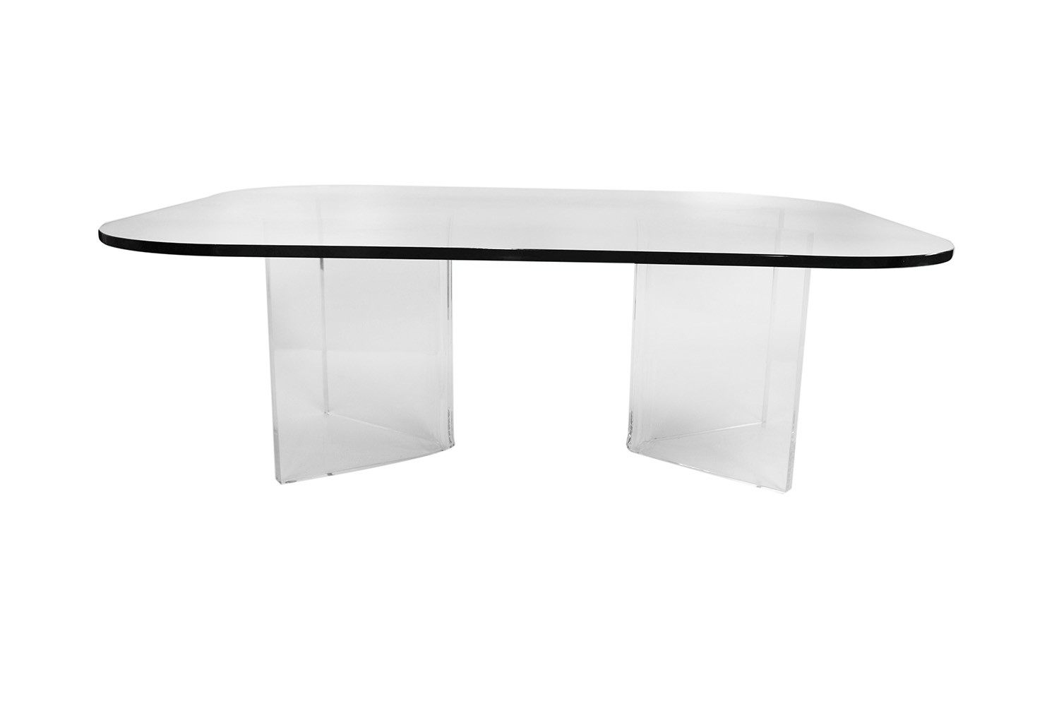 mid century modern lucite base glass top coffee table mary kay s furniture