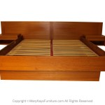 Jesper Danish Modern Teak Queen Platform Bed With Floating Nightstands Mary Kay S Furniture