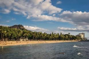 Waikiki Beach, Honolulu, Hawaii December 2014