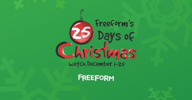 freeforms full 25 days of christmas movie lineup announced