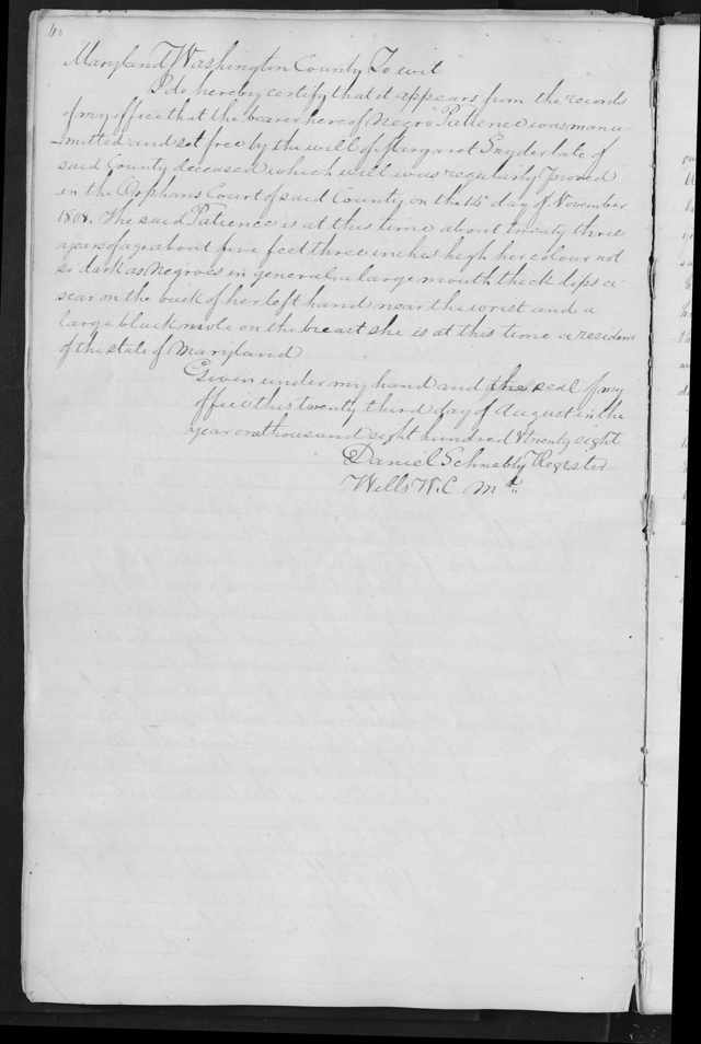 Freeman Declaration for Negro Patience