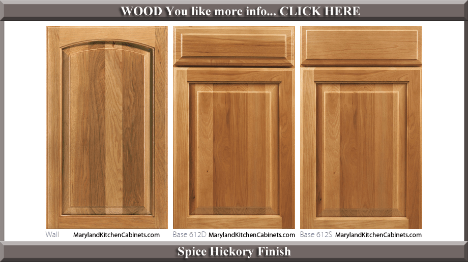 613  Hickory  Cabinet Door Styles and Finishes