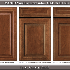 Kitchen Cabinets Com Large Sink 720 Cherry Cabinet Door Styles And Finishes Maryland Spice Finish Style