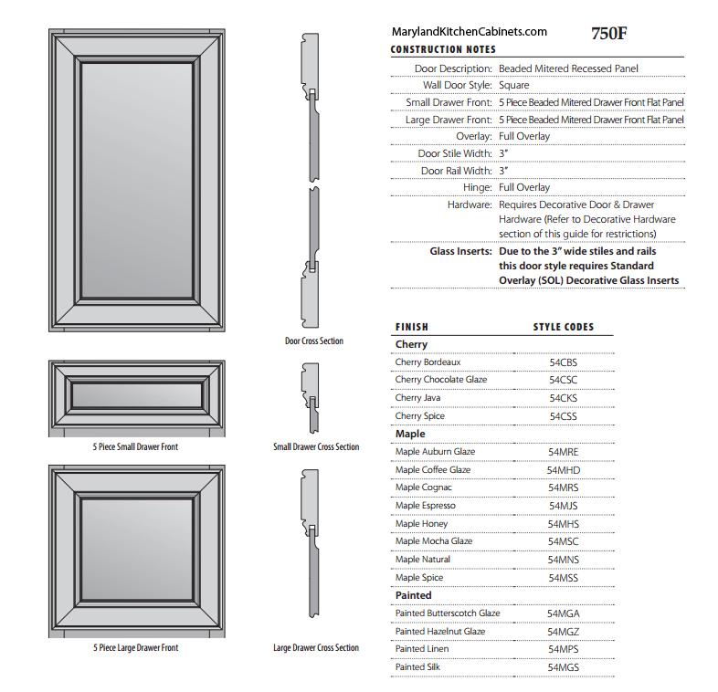 750  Cabinet Door Styles and Finishes  Maryland Kitchen