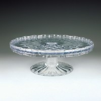 "Crystalware Crystal Cut 10"" Tiered Cake Plate 