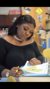 """Bryonna Harris, 17, in Baltimore in spring 2020, says dealing with traumais """"an all-hands-on-deck kind of process.""""(Photo by Jasmine Jones, courtesy Bryonna Harris.)"""