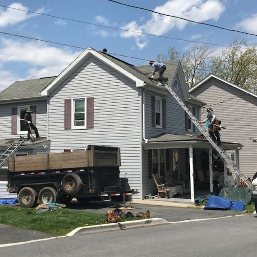 Storm Damage Roof Replaced In Brunswick Maryland
