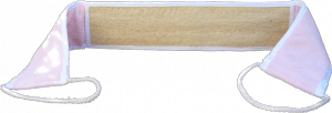 Lanière loofah haute qualité composée d'un côté fort et d'un côté éponge.