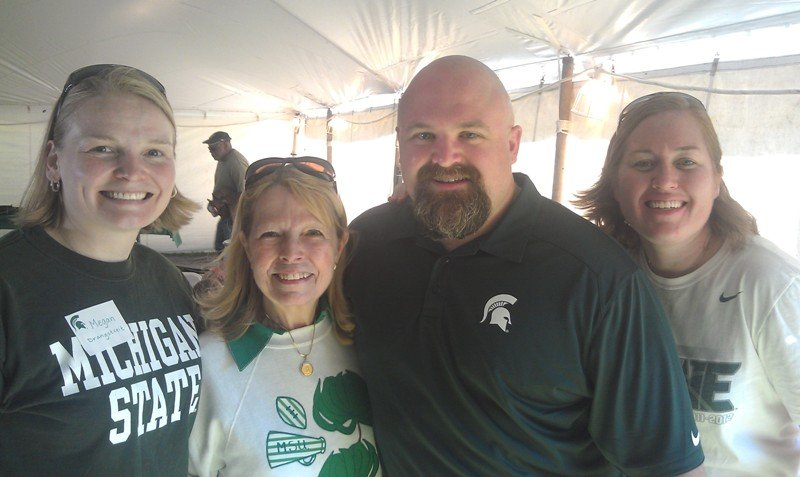 Ph.D. Students at MSU Homecoming tailgating event