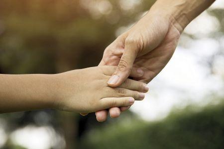 caregiver hand