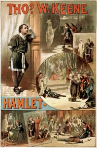 scene and summary, william shakespeare, hamlet, poster