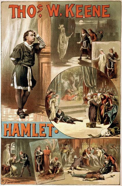 scene and summary, william shakespeare, hamlet, poster