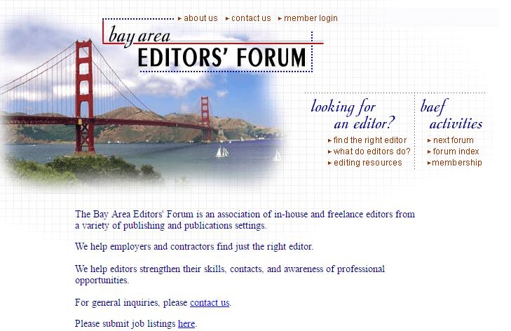 hiring an editor pic of Bay Area Editors Forum