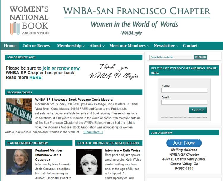 women writers WNBA-SF