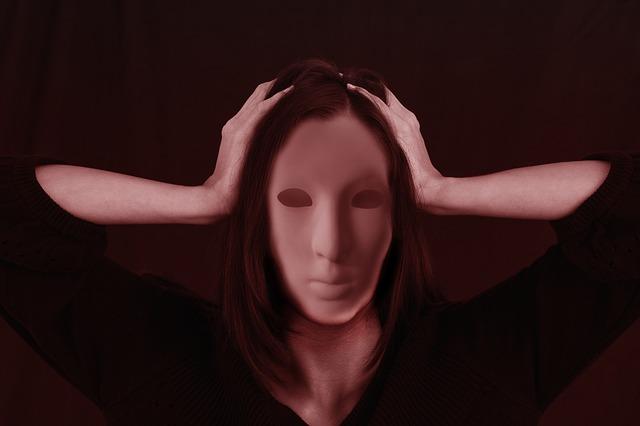 woman, face, bullying