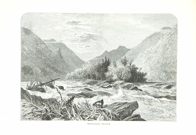 pen and paper page 69 of '[Picturesque America; or, the Land we live in. A delineation by pen and pencil of the mountains, rivers, lakes ... cities and other picturesque features of our country. With illustrations ... by eminent American artists. Edit