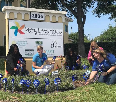 Plant a Pinwheel for Child Abuse Prevention Month 2019