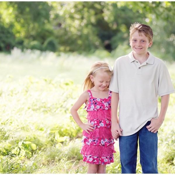 Brother, sister love!  – Arlington Photographer