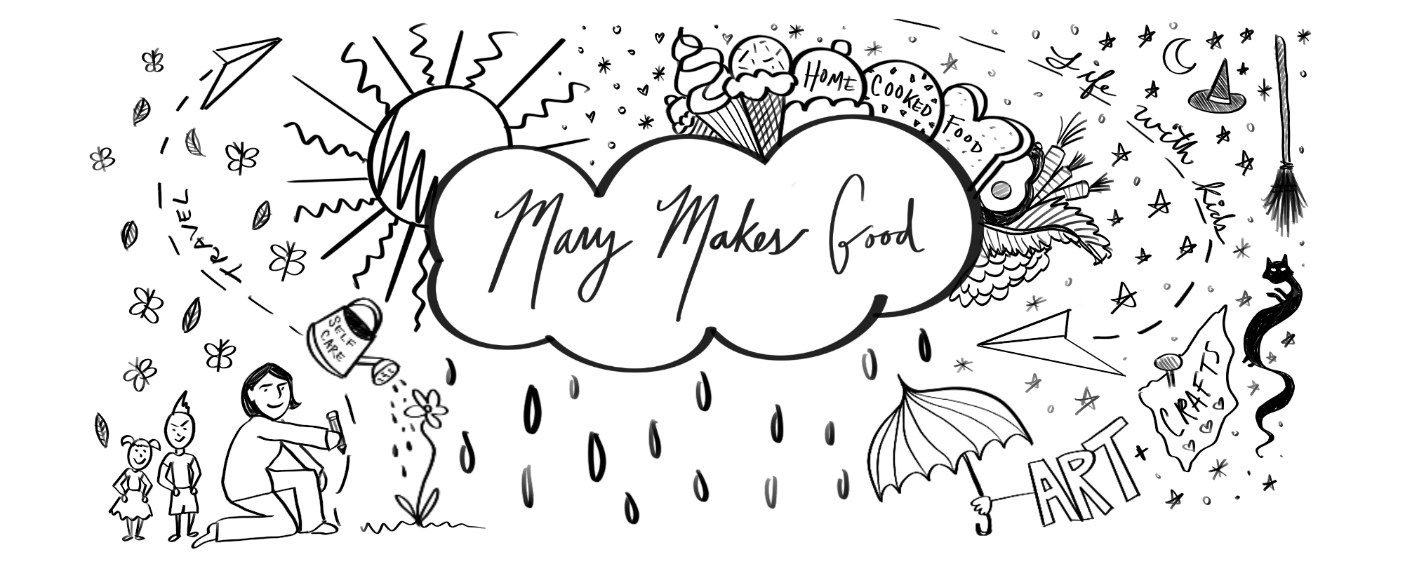 Hand illustrated banner for Mary makes good