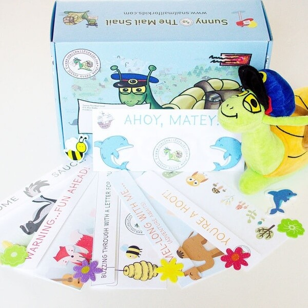 sunny the mail snail kit and contents