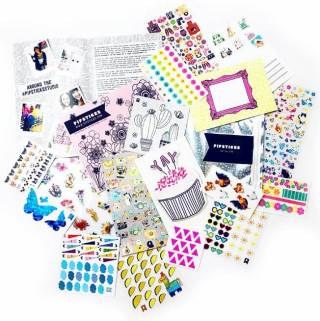 pipsticks sticker sheets in a pile