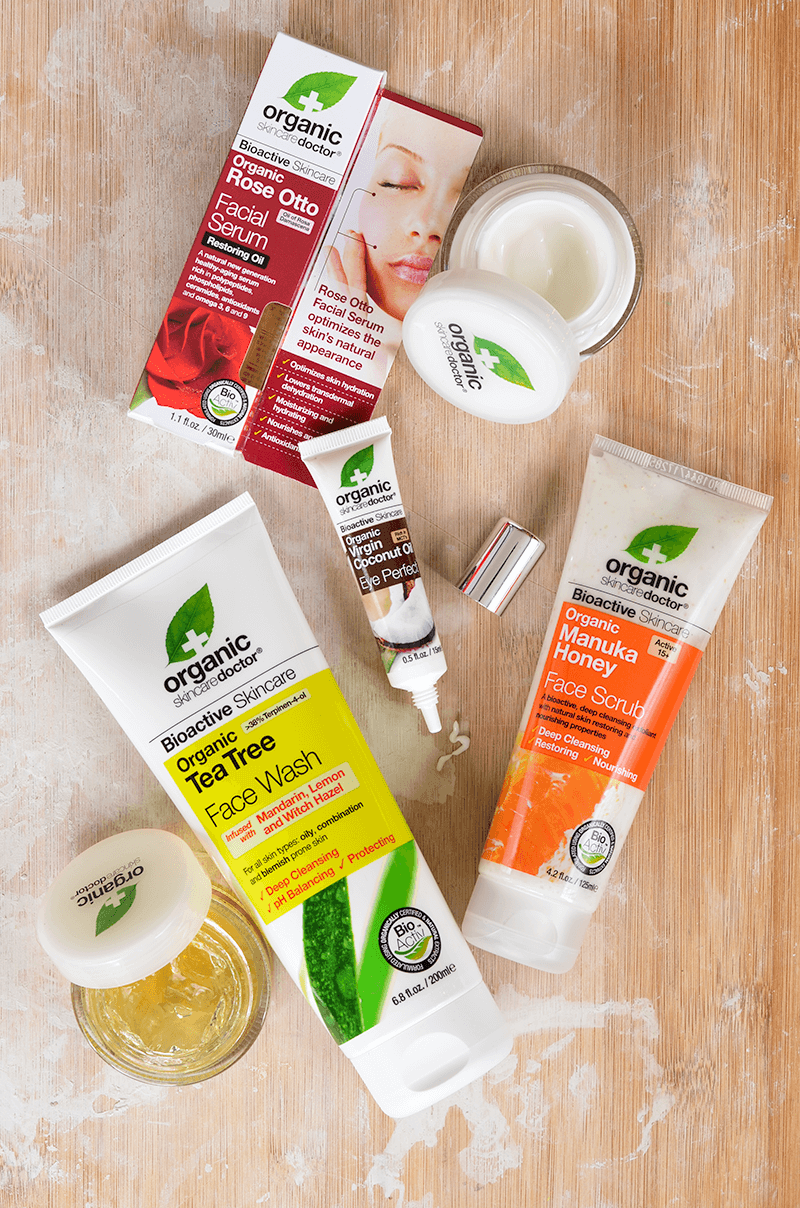 Products for your skincare routine from Organic Doctor