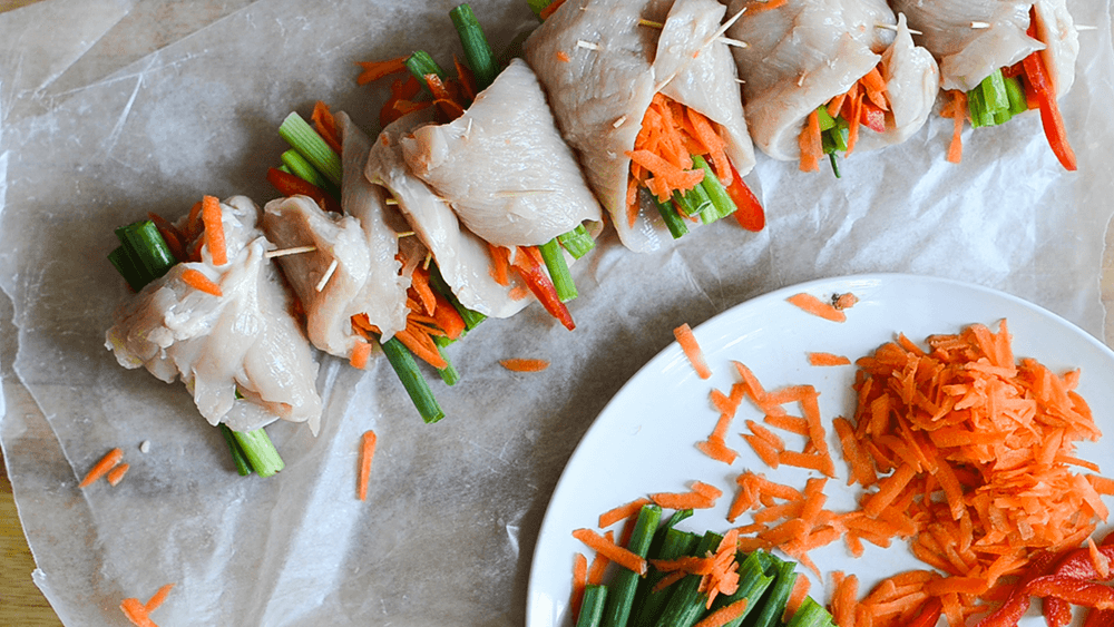 Garlic Soy Chicken Roll-Ups Recipe
