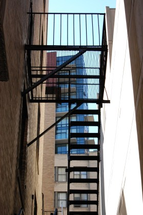 fire escape in alley