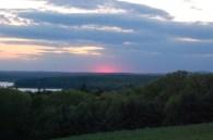 pink sunset at Tower Hill Botanic Garden