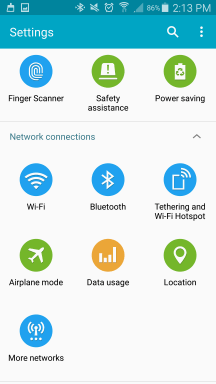 Samsung Safety assistance setting