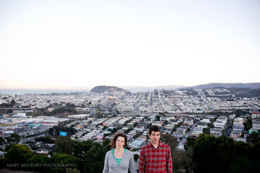 Bernal Hill Engagement photos
