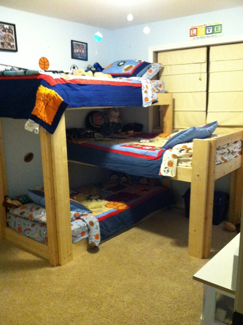 Triple Bunk Bed Plans L Shaped Plans Diy How To Make