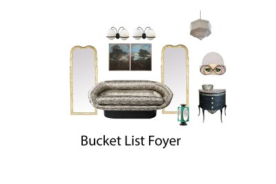 Interior Design Bucket List Challenge- My Glam Foyer