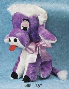 Purple Sitting Cow