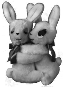 Lover Hugging Bunnies